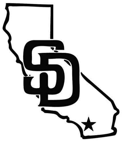 San diego california clipart vector free stock San Diego California Map Vinyl Decal Sticker For Vehicle Car Truck Window  Bumper Wall Decor - [6 inch/15 cm Tall] - Gloss WHITE Color vector free stock