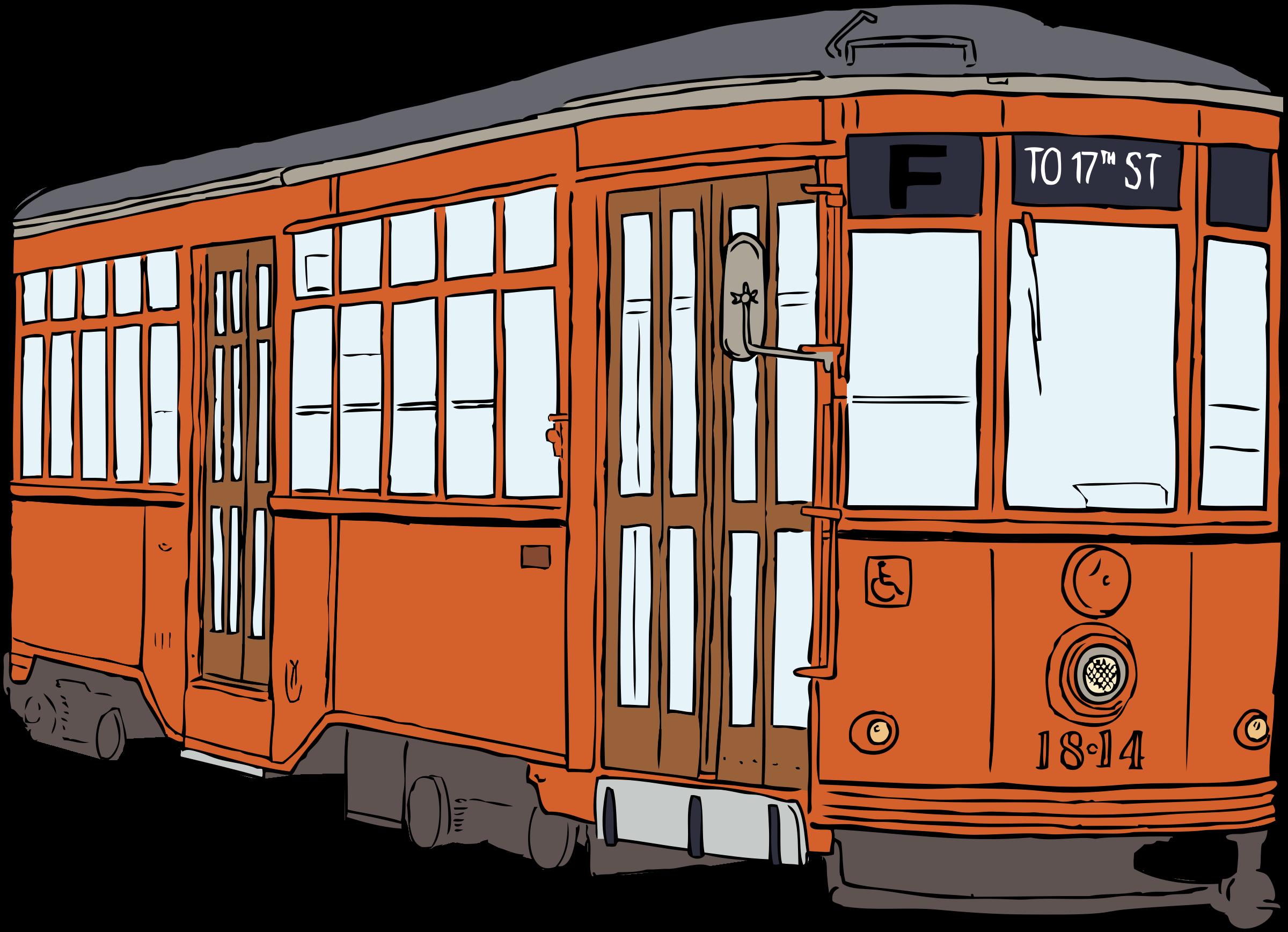 Clipart - Milan Streetcar svg stock