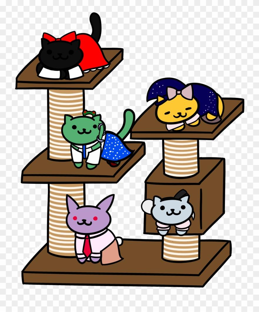 Sanae clipart image royalty free Reimu, Marisa, Sanae, Youmu And Reisen As Neko Atsume ... image royalty free