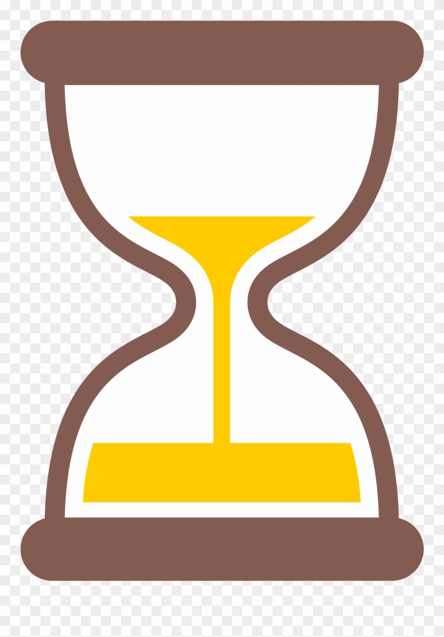 Sand timer clipart clip art freeuse library Hourglass Clipart Yellow - Hourglass Timer Emoji - Png ... clip art freeuse library