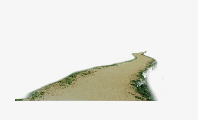 Sand road clipart