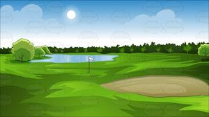 Sand trap clipart svg stock Green Golf Course Background svg stock