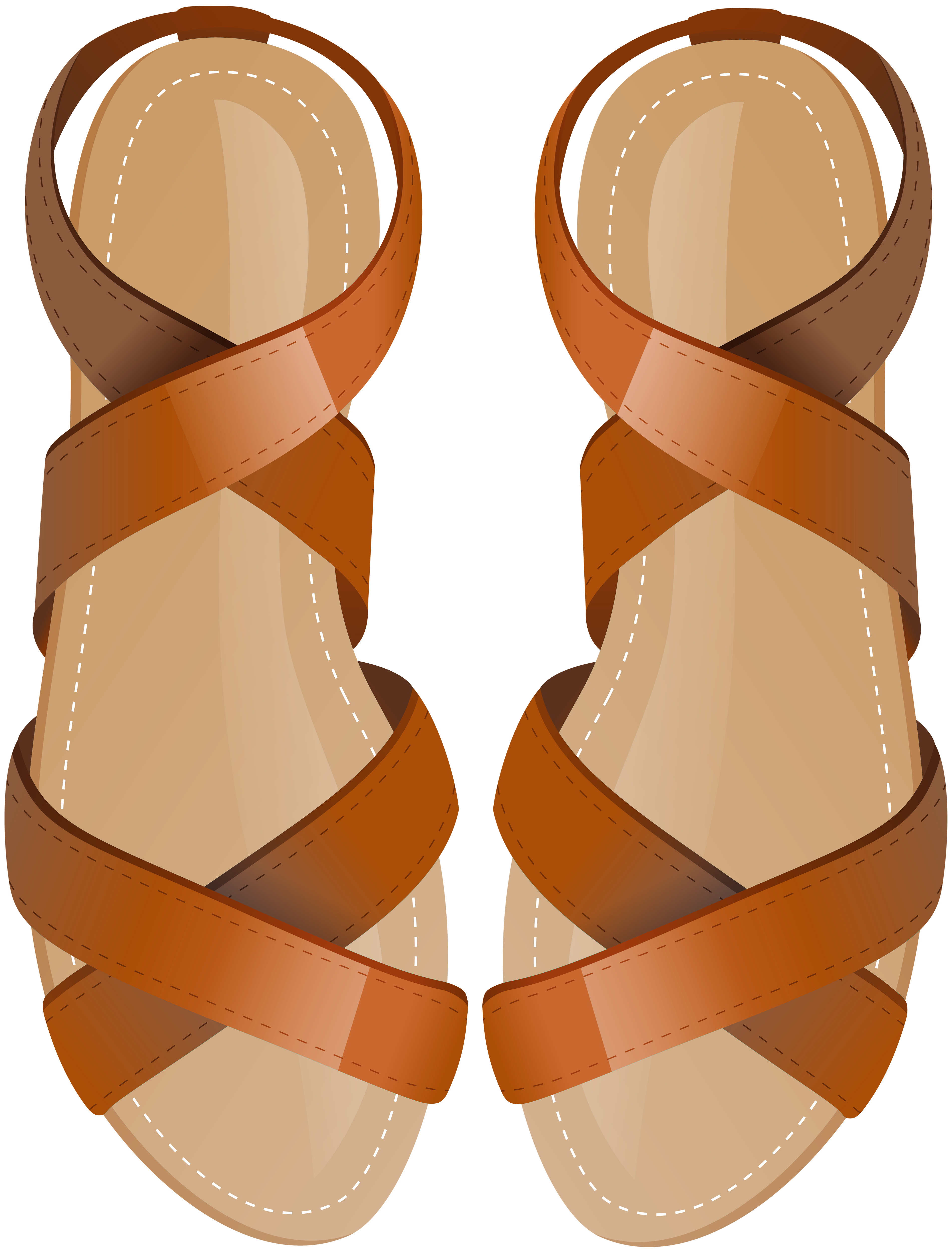 Sandas clipart clipart library library Brown Sandals PNG Clip Art - Best WEB Clipart clipart library library