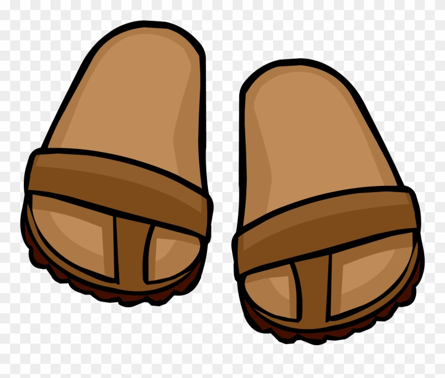 Sandas clipart svg freeuse library Brown Sandals - Brown Sandals Clipart - Png Download ... svg freeuse library