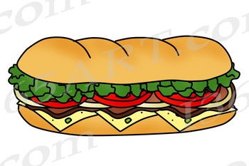 Sandwhich clipart png free stock Build A Sub Sandwich Clipart Bundle png free stock