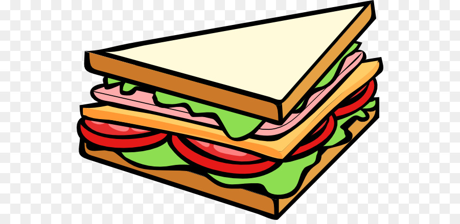Sandwhich clipart clipart royalty free download Cheese Cartoon png download - 600*432 - Free Transparent ... clipart royalty free download