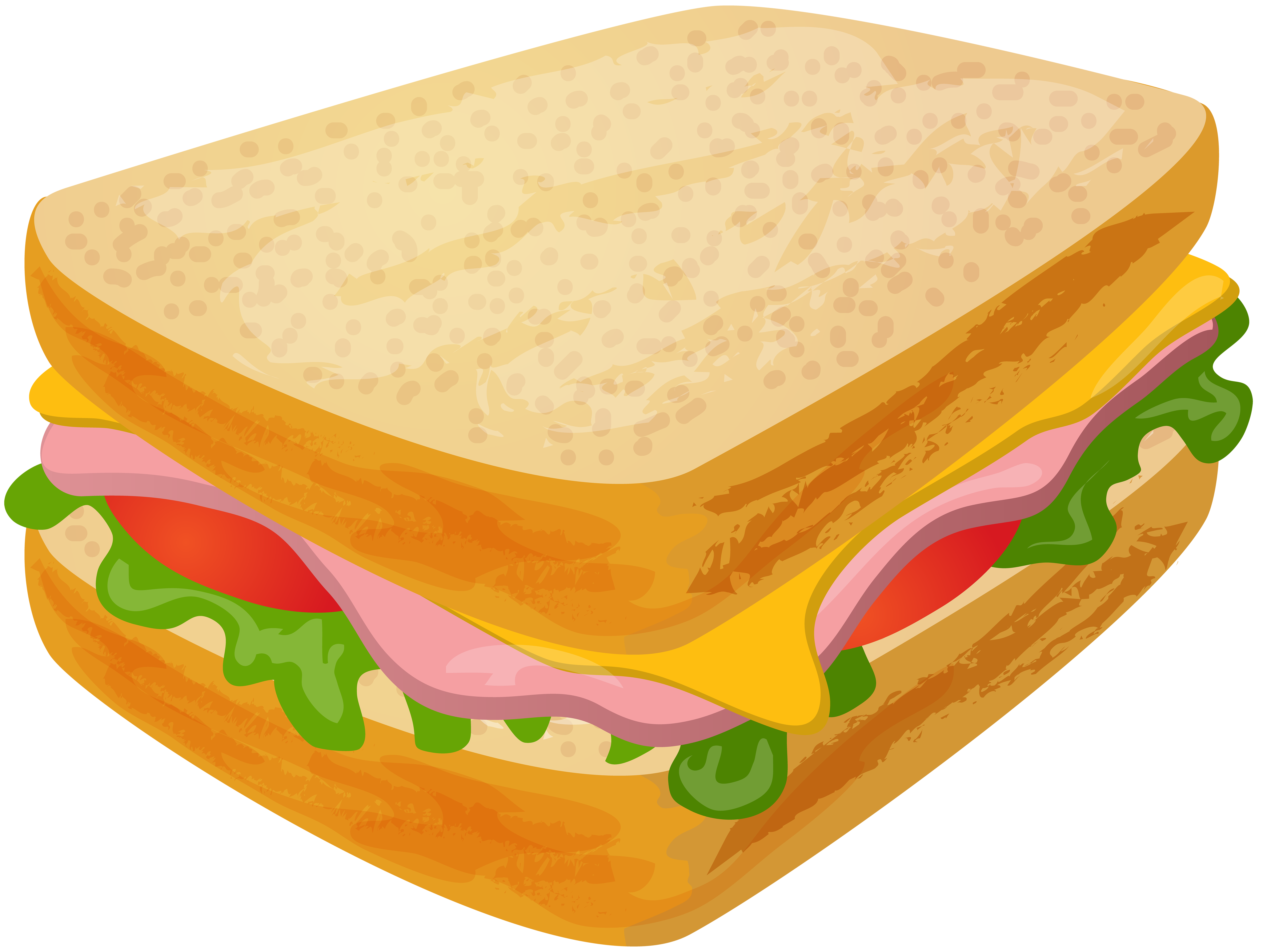Sandwhich clipart vector library download Sandwich Transparent PNG Clip Art | Gallery Yopriceville ... vector library download