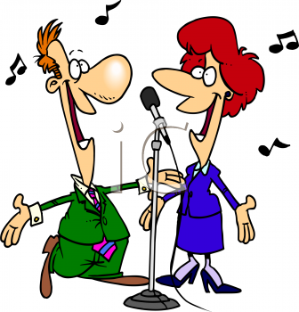 Sang clipart clip art freeuse library Cartoon Clipart | Cartoon of a Singing Duet - Royalty Free ... clip art freeuse library