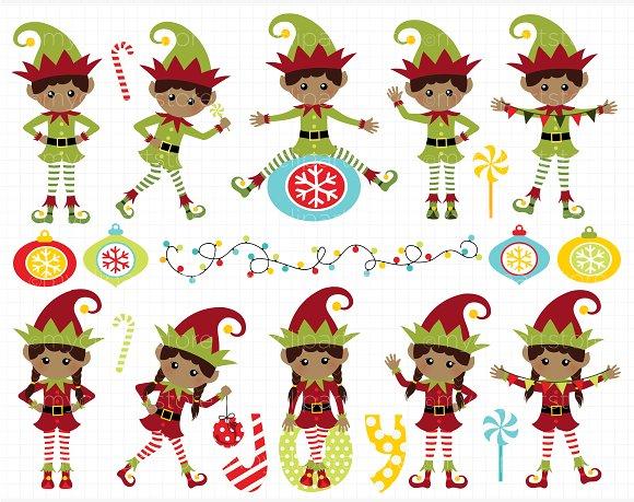 Santa and elves clipart vector royalty free download Christmas Santa\'s Elves Clipart vector royalty free download