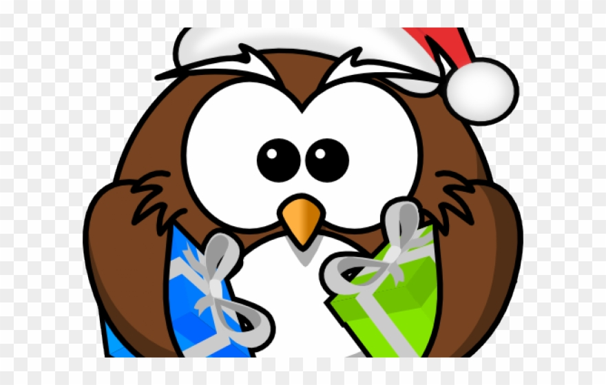 Santa and owls clipart vector freeuse download Santa Owl Cliparts - Cartoon Owls - Png Download (#1640086 ... vector freeuse download
