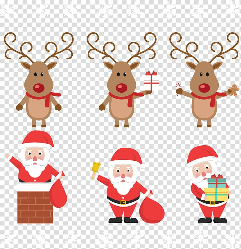Santa and reindeer clipart to overlay on moon vector black and white stock Rudolph Santa Clauss reindeer Santa Clauss reindeer ... vector black and white stock