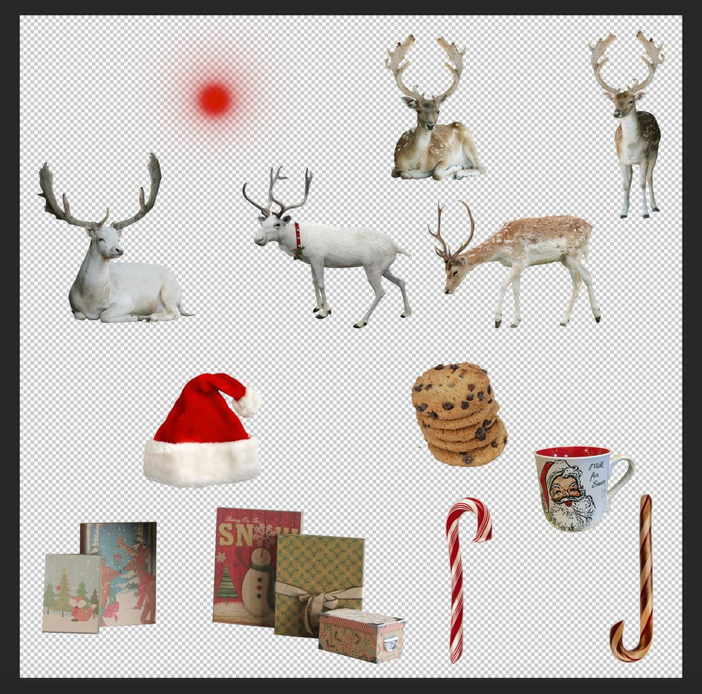 Santa and reindeer clipart to overlay on moon svg freeuse stock Santa Set svg freeuse stock