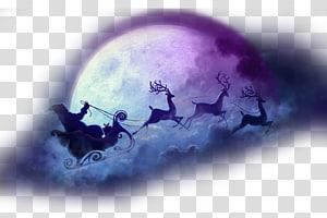 Santa and reindeer clipart to overlay on moon royalty free stock Santa Claus\\\'s reindeer Santa Claus\\\'s reindeer NORAD Tracks ... royalty free stock