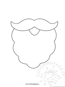 Santa beard clipart picture black and white download Santa Beard Clipart & Free Clip Art Images #27336 ... picture black and white download