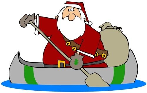 Santa boat clipart graphic transparent download Santa in a boat clipart 3 » Clipart Portal graphic transparent download