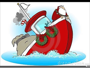 Santa boat clipart black and white download Santa On A Boat Clipart | Free Images at Clker.com - vector ... black and white download