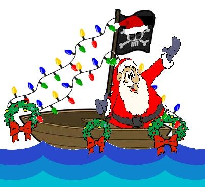 Santa boat clipart banner library Indian Shores Christmas Boat Parade | Mike Petruccelli\'s Bus ... banner library