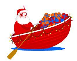 Santa boat clipart vector free library nog een nieuwe versiering voor je kerstkaart/ santa in a ... vector free library