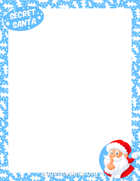 Santa border clipart picture freeuse library Pin by Muse Printables on Page Borders and Border Clip Art ... picture freeuse library