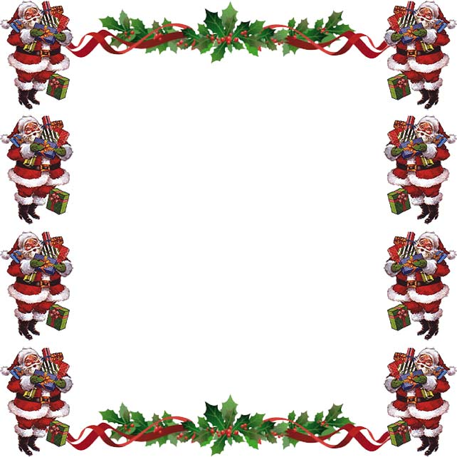 Santa border clipart graphic black and white stock Free Santa Border Cliparts, Download Free Clip Art, Free ... graphic black and white stock