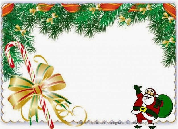 Santa border clipart banner black and white stock Free Santa Cliparts Borders, Download Free Clip Art, Free ... banner black and white stock