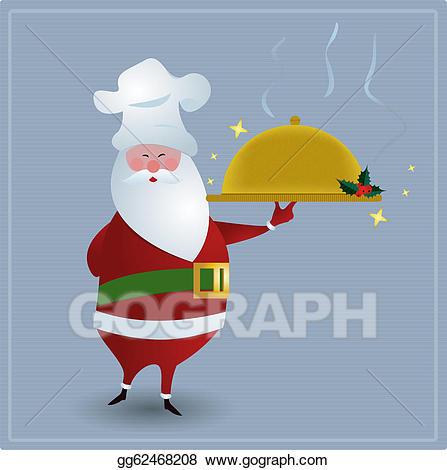 Santa chef clipart vector freeuse stock EPS Vector - Chef santa. Stock Clipart Illustration ... vector freeuse stock