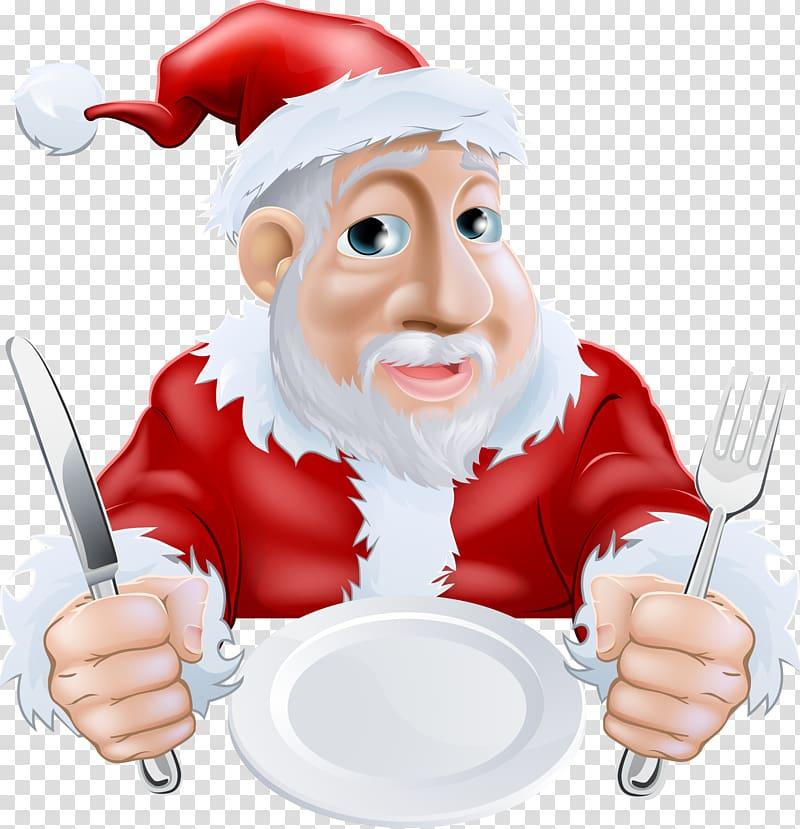 Santa chef clipart vector freeuse stock Santa Claus Christmas dinner Cartoon, Santa Claus ... vector freeuse stock