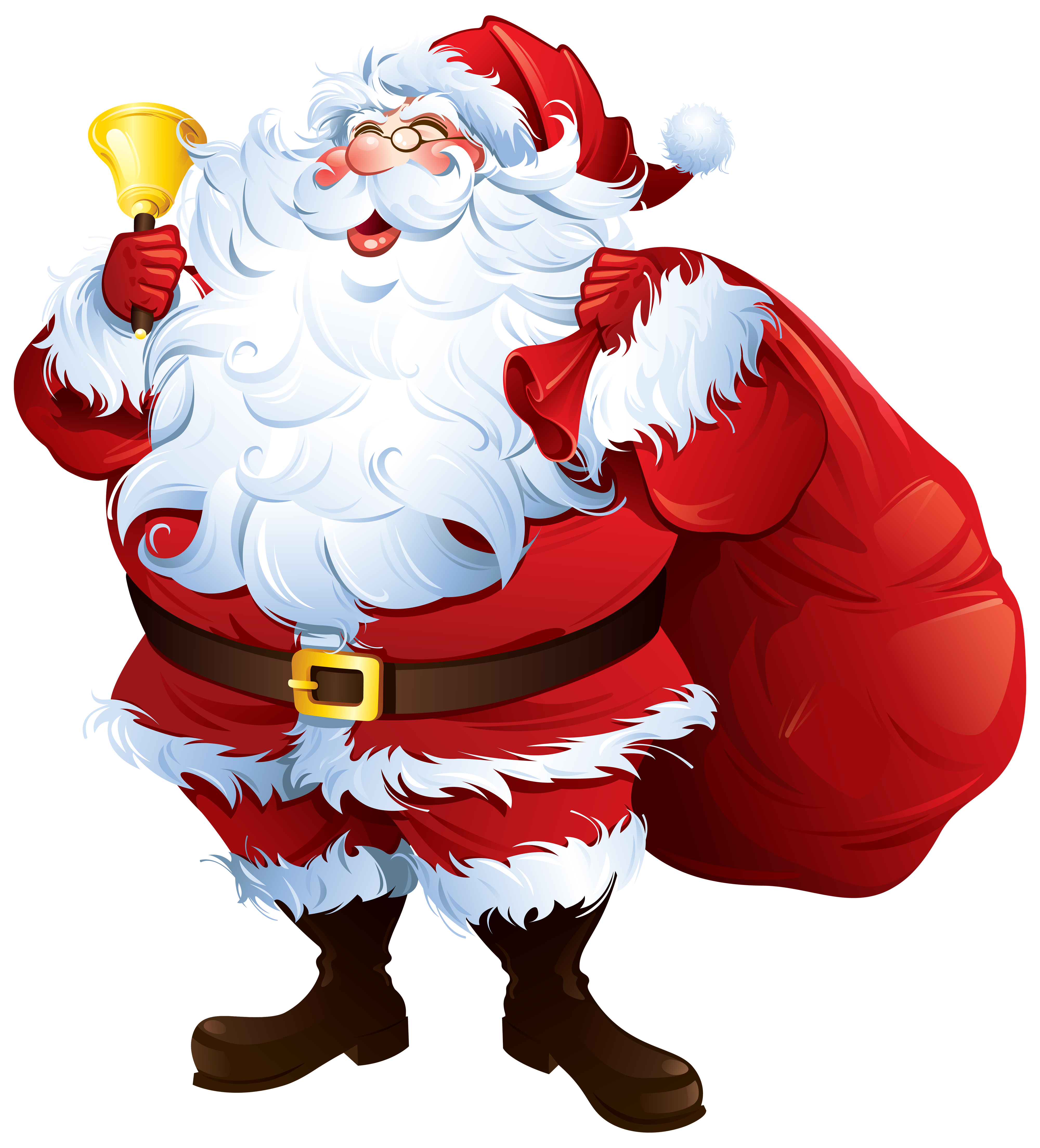 Santa Claus with Bell and Bag PNG Clipart - Best WEB Clipart picture library library