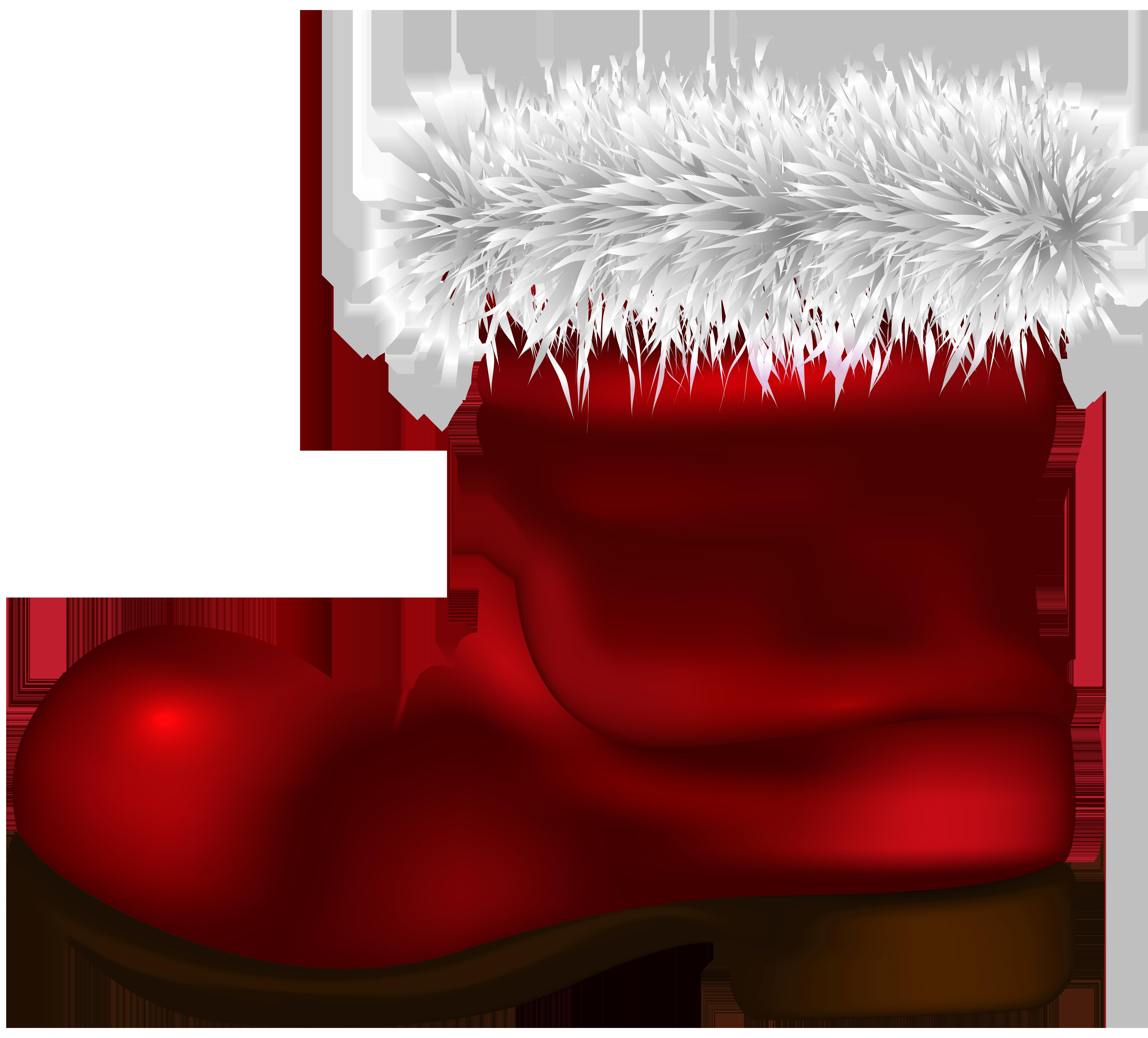 Santa claus boots clipart image transparent Santa Claus Boot PNG Clip Art Image | Gallery Yopriceville ... image transparent