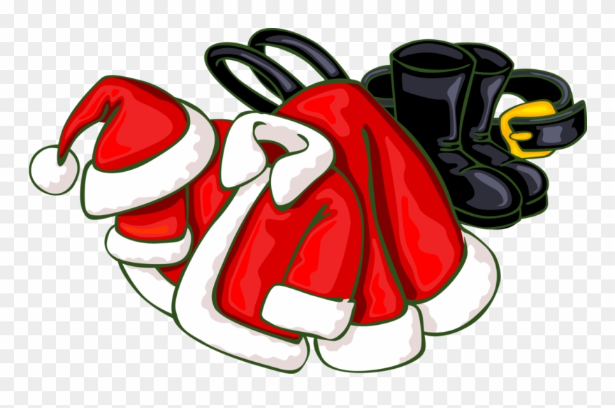 Santa claus boots clipart svg freeuse stock Vector Illustration Of Santa Claus Suits, Boots, And - Santa ... svg freeuse stock