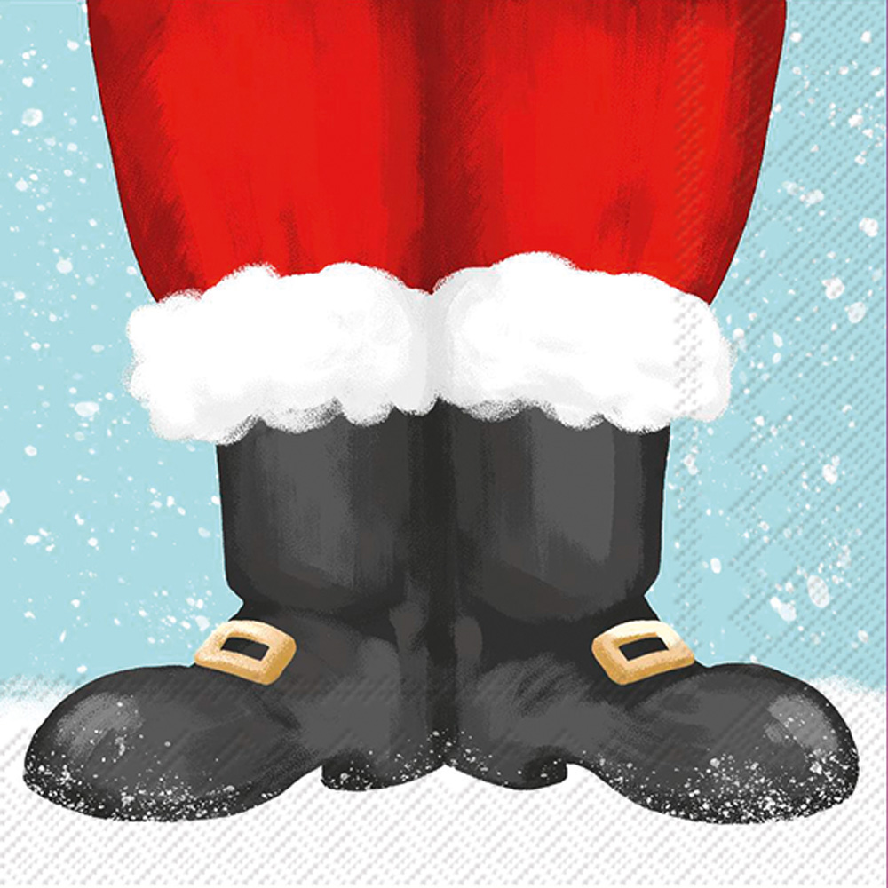 Santa claus boots clipart clipart library library Santa Boots Cocktail Napkin clipart library library