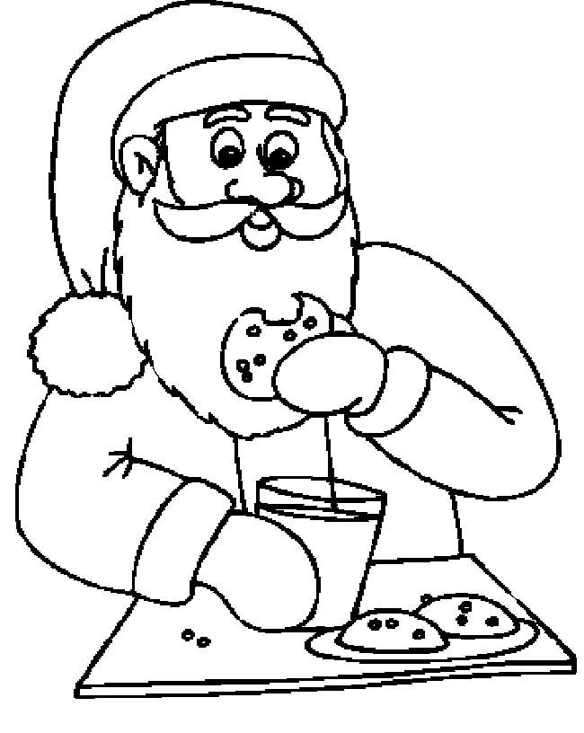 Santa claus eating clipart clip royalty free stock Santa Claus Eating Cookies And Drinking Milk Funny Cartoon ... clip royalty free stock