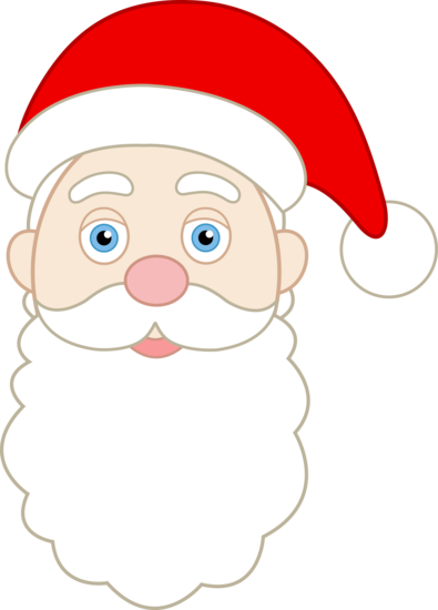 Santa claus face clipart image freeuse library printable santa face pattern | Face of Santa Claus - Free ... image freeuse library