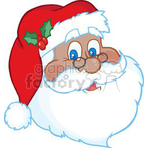 Santa claus face clipart vector royalty free Classic Santa Claus Face clipart. Royalty-free clipart # 381356 vector royalty free
