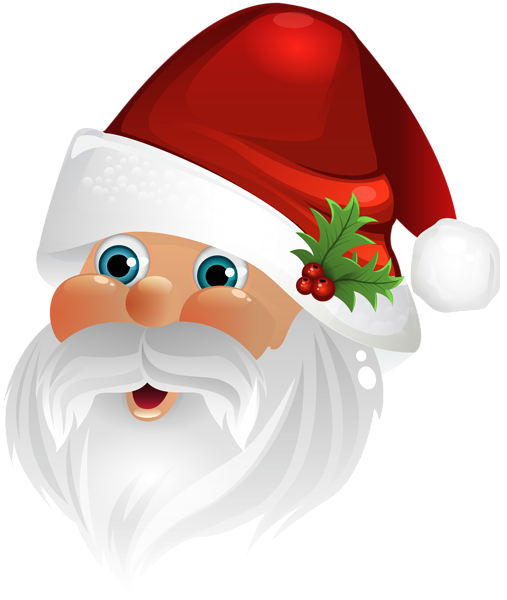 Santa claus face clipart graphic Santa Claus Face Transparent Clip Art Image | Ribbons ... graphic