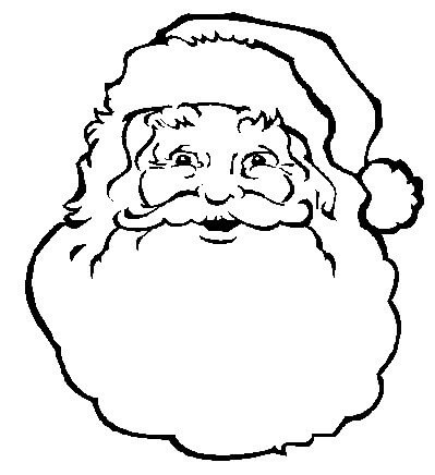 Santa claus face clipart black and white banner stock Free Santa Claus Clipart - Clipart Junction banner stock