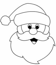Santa claus face clipart black and white png library download Santa claus face clipart black and white 5 » Clipart Portal png library download