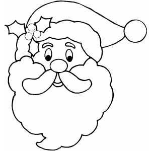 Santa claus face clipart black and white banner library stock Free Printable Santa Face | Santa Face Coloring Page | Wood ... banner library stock