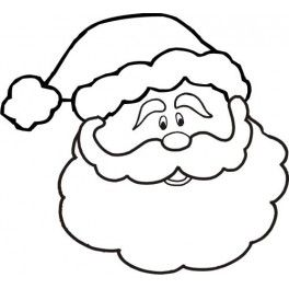 Santa claus face clipart black and white clip art transparent library Santa Claus Clipart Black And White | Free download best ... clip art transparent library