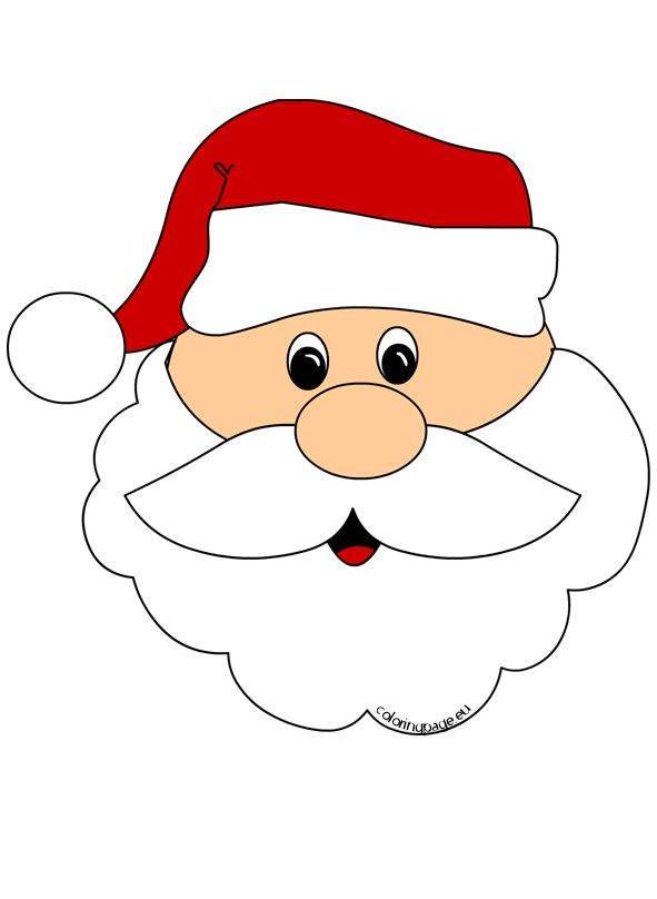 Santa claus face clipart clip freeuse download Santa Claus Face Cut Out | Bows | Santa claus clipart, Santa ... clip freeuse download
