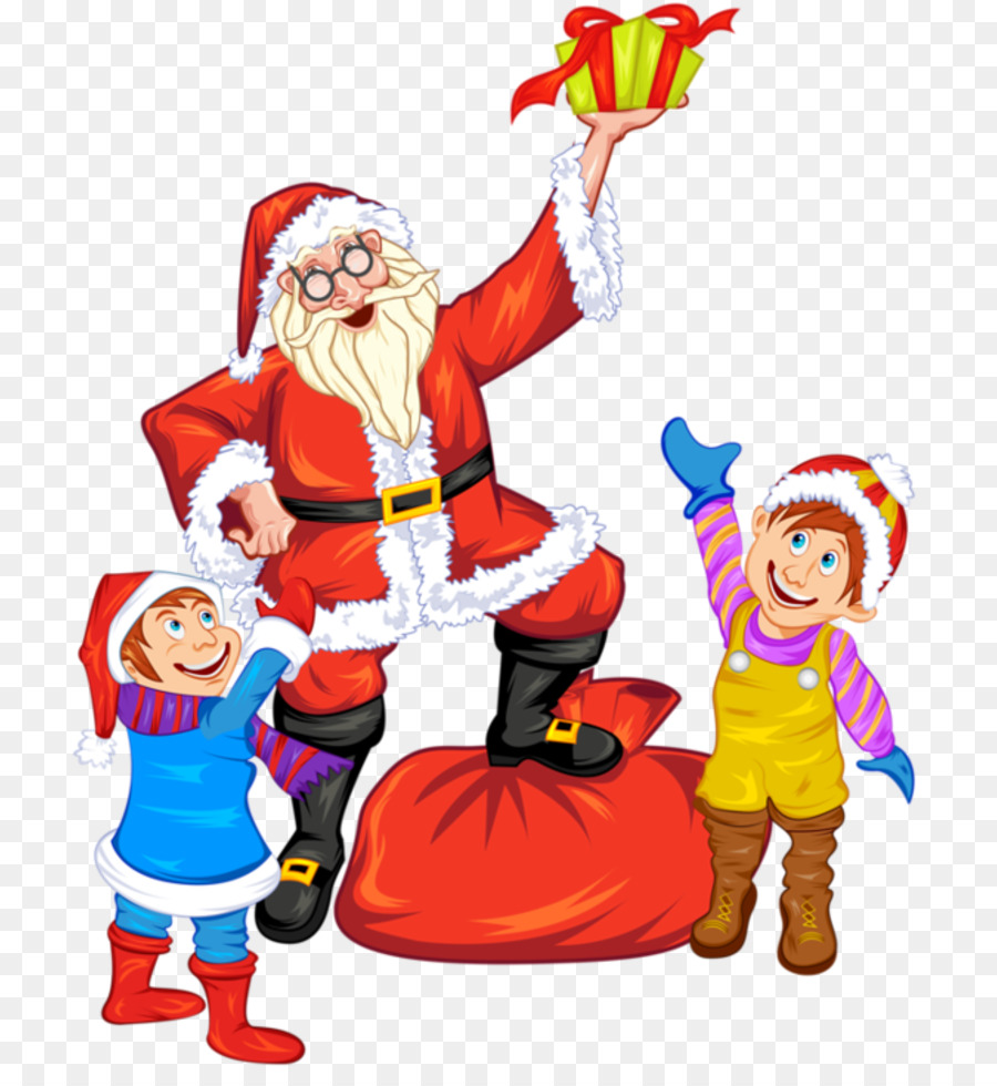 Santa claus giving gifts clipart vector download Christmas Elf Cartoon png download - 800*965 - Free ... vector download
