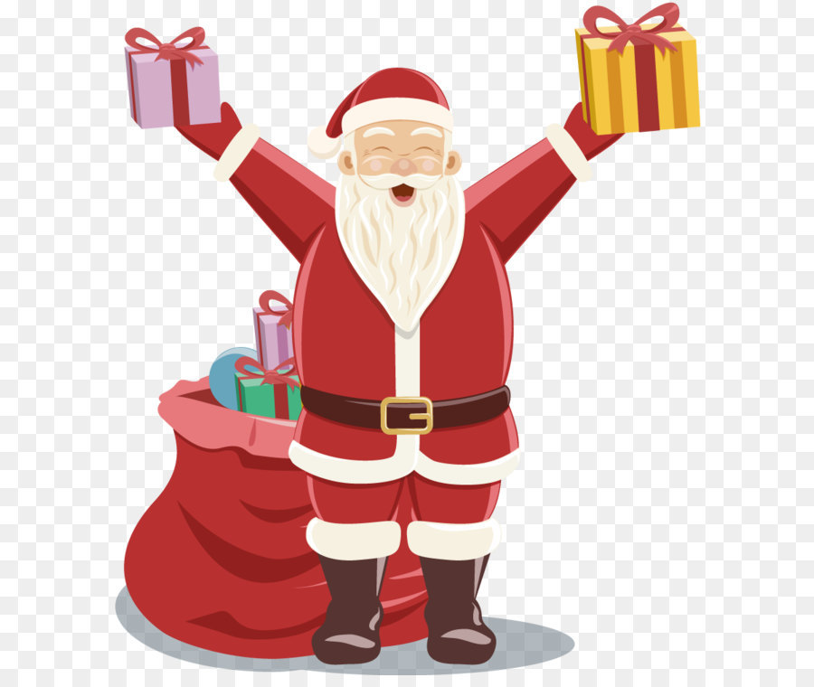 Santa claus giving gifts clipart clip art free download Christmas Gift Cartoon png download - 870*1000 - Free ... clip art free download