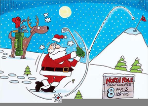 Santa claus golfing clipart svg free stock Free Clipart Santa Playing Golf | Free Images at Clker.com ... svg free stock
