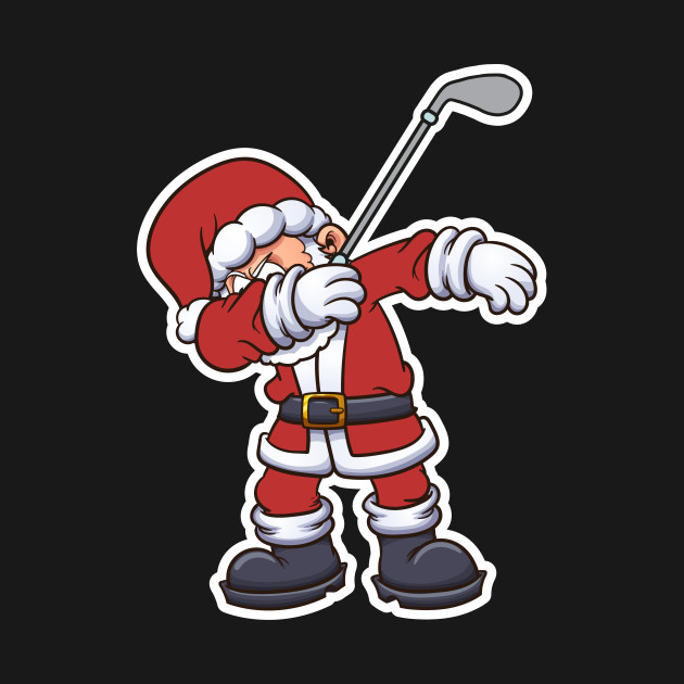 Santa claus golfing clipart image freeuse download Dabbing Santa Claus Golf Christmas Gift image freeuse download