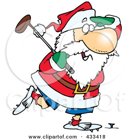 Santa claus golfing clipart vector library library golfing santa | Santa Golfing | golf | Illustration art ... vector library library