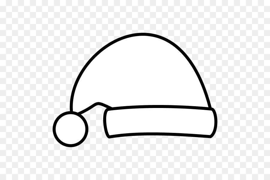 Santa hat clipart black and white free vector transparent stock Santa Claus Hat png download - 600*600 - Free Transparent ... vector transparent stock