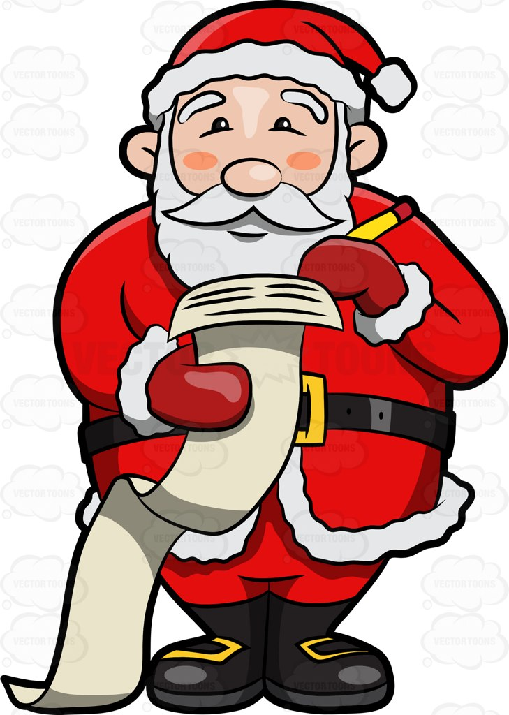 Santa claus list clipart png royalty free download Santa Claus Making A Naughty And Nice List And Checking It Twice ... png royalty free download