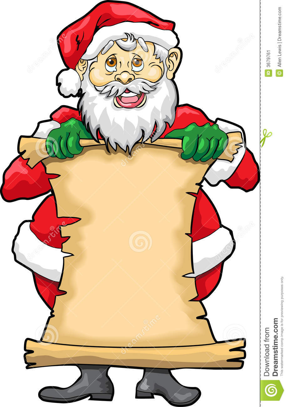 Santa claus list clipart svg free library Santa's Blank List Stock Image - Image: 3679761 svg free library