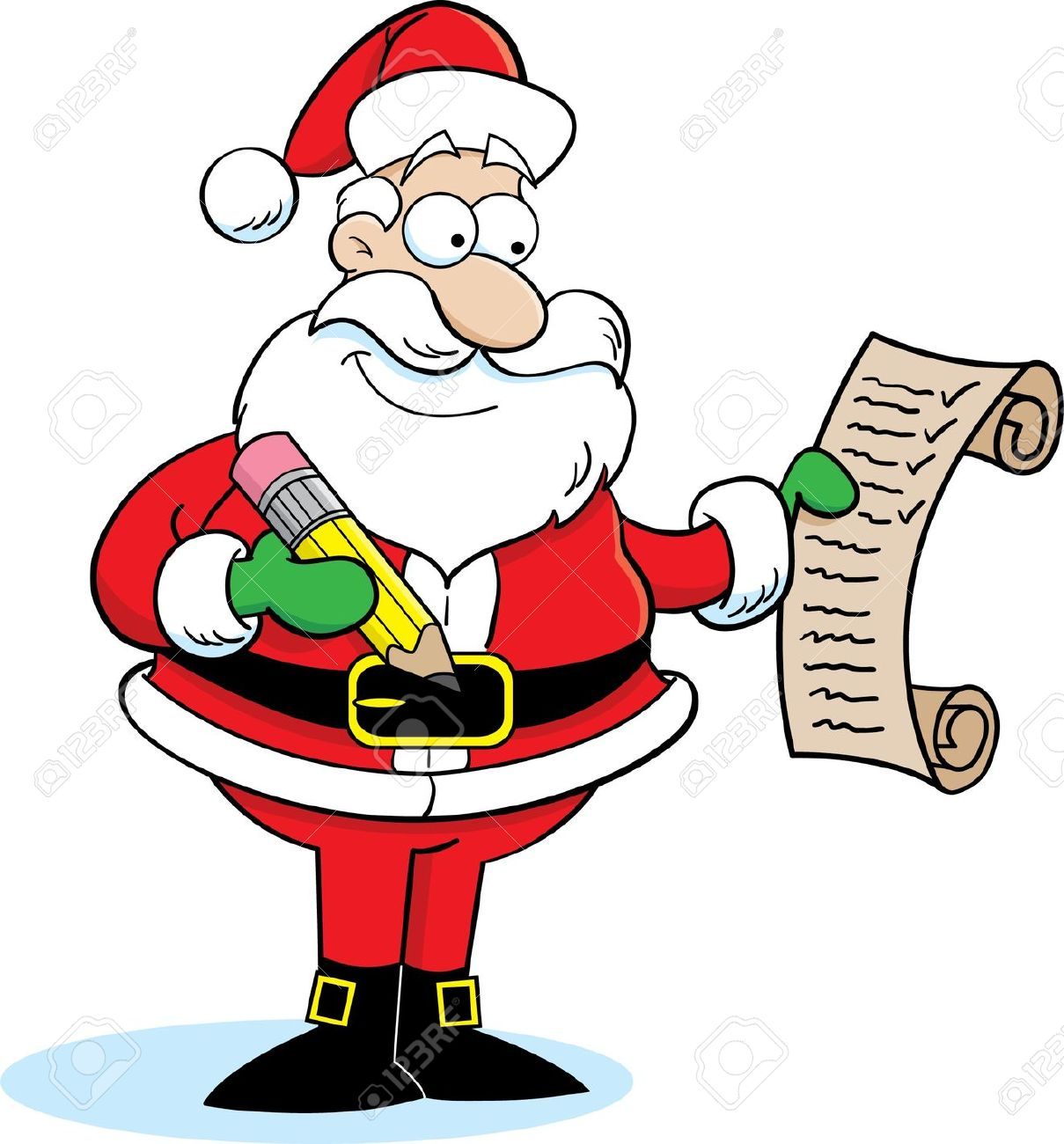 Santa claus list clipart vector transparent download Santa Checking List Clip Art – Clipart Free Download vector transparent download