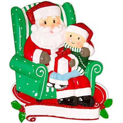 Santa claus with child on lap clipart image free Amazon.com: Personalized Child Sitting on Santa\'s Lap ... image free